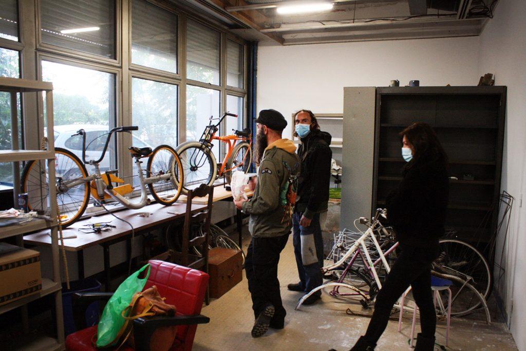 L'atelier de réparation de vélos de Yann, au 6b